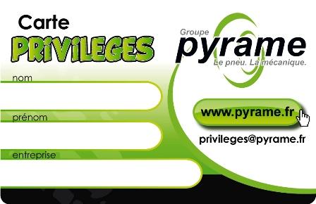 Carte Privilège Pyrame